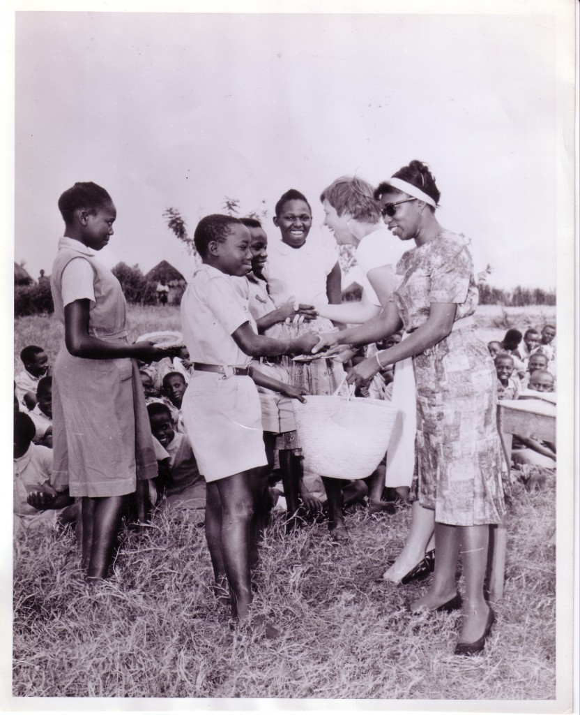 "Audrey McKim (second from right) with the Kenyan Council of Churches in 1962: ""We didn't always wear heels! But look at me ... funny when I look at this picture, you forget how things really were then."""