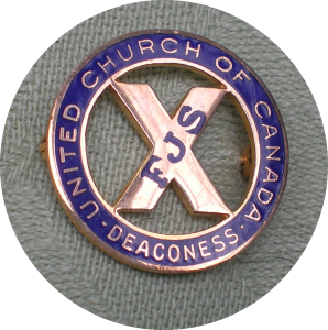 UCC Deaconess Pin, a symbol of membership in the Order
